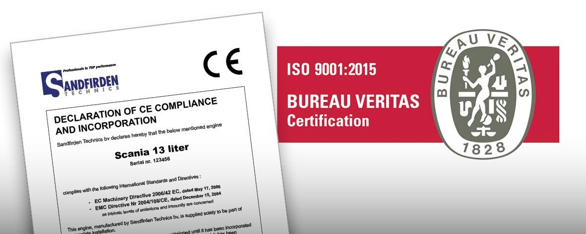 Sandfirden Technics certificates