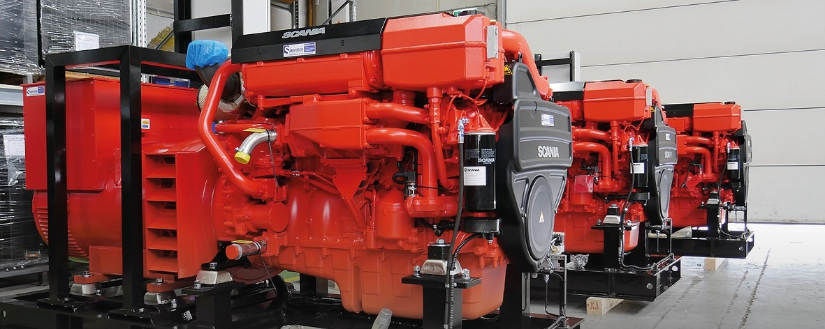 Sandfirden Technics marine diesel and gas gensets