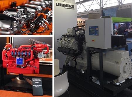 Sandfirden Technics op Europort 2017 SGI16M gas generatorset SGI-7 gas engine Scania Agco Liebherr