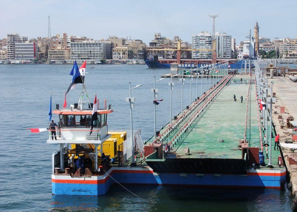 Utiliteitsbouw Sykes Hydromaster 5x floating bridge drijvende brug Scania DI-13 071M