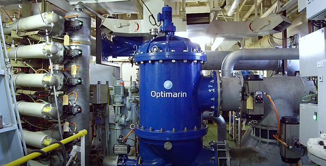 Sandfirden Technics Optimarin ballast water treatment home