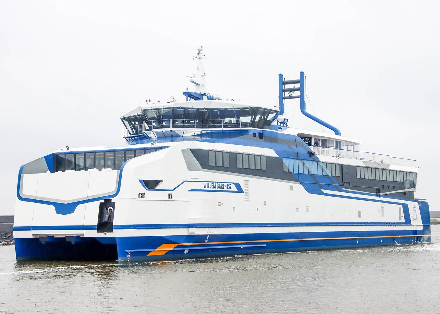 Veerdienst Ferries SFT151475 Rederij Doeksen Harlingen m.s. Willem Barentz Scania gasgeneratorsets