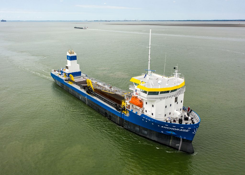 Barkmeijer Shipyards 190461 NB 347, TSHD Anchorage De Hoop Terneuzen 1x OL521C, 243 kWe