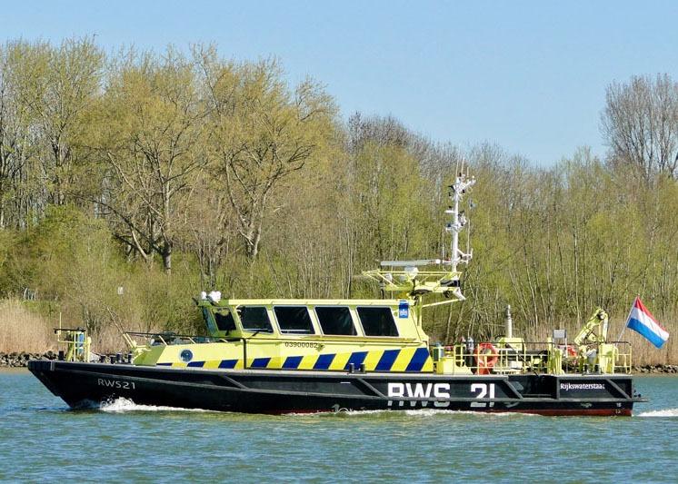 Binnenvaart Sandfirden Technics Scania DI-13 De Haas Maassluis Rijkswaterstaat RWS21