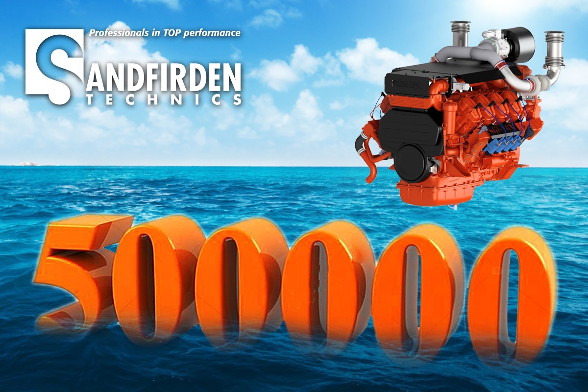 Sandfirden Technics marine gas engines SGI-16M 500.000 running hours
